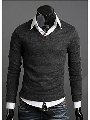 nova moda melhor primavera de venda multi-cor camisola magro v-neck básica camisola masculina camisola fina