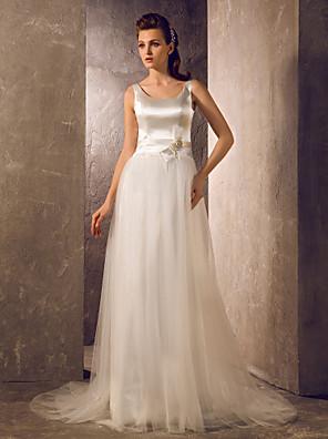 Lanting Bride® A-Linie / Princess Drobná / Nadměrné velikosti Svatební šaty - Klasické & nadčasové / Okouzlující & dramatickéDlouhá