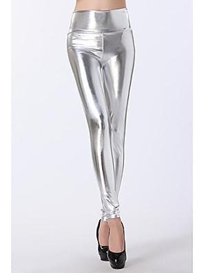Alta Prata cintura Leggings