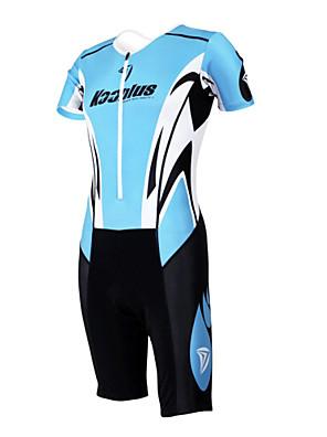 KOOPLUS® חליפת טריאתלון לנשים / לגברים / יוניסקס שרוול קצר אופניים נושם / ייבוש מהיר / חדירות ללחות / לביש סרבל / מדים בסטים פוליאסטר