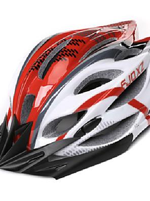 FJQXZ Unisex Venkovní PC + EPS 22 Vents červená + bílá Cyklistika Hlemets