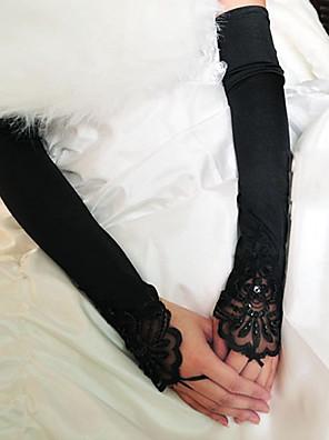 Operalengte Zonder vingers Handschoen Stretchsatijn Bruidshandschoenen / Feest/uitgaanshandschoenen Lente / Zomer / Herfst