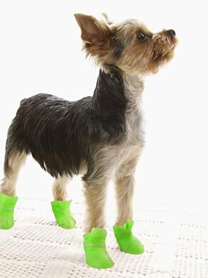 חתולים / כלבים נעליים ומגפיים עמיד למים חורף / קיץ/אביב אחיד צהוב / כחול / סגול / Black / ורוד סיליקוןריצה