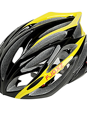 EPS יצוק אינטגרלי FJQXZ + קסדות מחשב צהובים רכיבה על אופניים (21 פתחי אוורור)