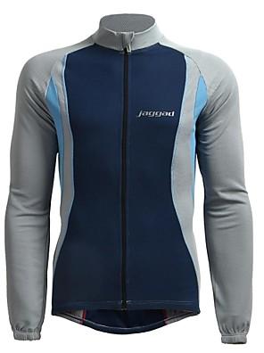 JAGGAD® Camisa para Ciclismo Homens Manga Comprida Moto Respirável / Mantenha Quente / Secagem Rápida Camisa/Fietsshirt / BlusasPoliéster