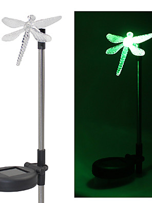 Set van 2 Tuin Color Changing Dragonfly Solar Stake Lights
