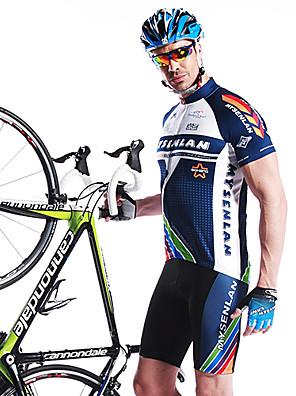 MYSENLAN® חולצת ג'רסי ומכנס קצר לרכיבה לגברים שרוול קצר אופניים נושם / ייבוש מהיר / לביש / 3D לוחשורטים (מכנסיים קצרים) מרופדים /