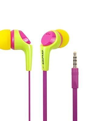 Moda Awei Q6i 3,5 milímetros Plug In-Ear da liga de alumínio Super Bass Microfone Fones-(amarelo / / Azul)
