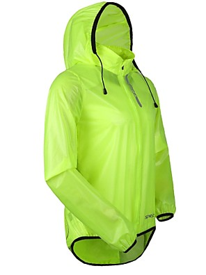 SANTIC® ג'קט לרכיבה לגברים שרוול ארוך אופניים עמיד למים / נושם / עמיד / מוגן מגשם ג'קט / מעיל גשם / צמרות PU אחיד אביב / קיץ / סתיו / חורף