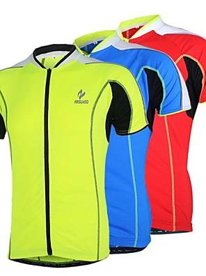 Arsuxeo® Camisa para Ciclismo Mulheres / Homens / Unissexo Manga Curta Moto Respirável / Secagem Rápida / Design Anatômico / Zíper Frontal