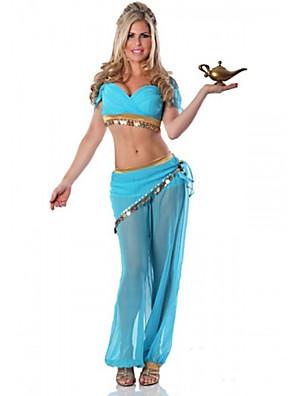 תחפושות קוספליי / תחפושת למסיבה נסיכות פסטיבל/חג תחפושות ליל כל הקדושים כחול אחיד עליון / מכנסיים האלווין (ליל כל הקדושים) / קרנבל נקבה
