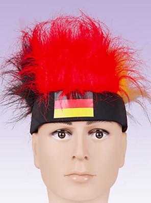 Vlasové ozdoby Festival/Svátek Halloweenské kostýmy Červená / Bílá Čelenka Halloween / Karneval Terylen / Polyester / Polyurethanová kůže