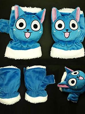 Luvas Inspirado por Fairy Tail Fantasias Anime Acessórios de Cosplay Luvas Azul Malha polar Masculino / Feminino / Criança