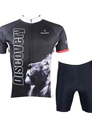 Camisa com Shorts para Ciclismo Unissexo Manga Curta Moto Respirável / Secagem Rápida Conjuntos de Roupas/Ternos SedaPrimavera / Verão /