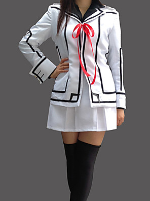 Inspirado por Vampire Knight Luca Souen Anime Fantasias de Cosplay Ternos de Cosplay / Uniformes Escolares Patchwork Branco Manga Comprida
