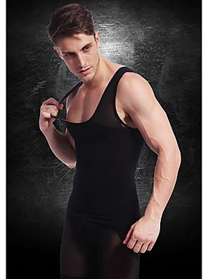 גברים ההרזיה ny027 שחור ניילון גוף תחתוני מעצב אפוד מותניים חולצה מעיל בטן בטן מוצקה חזה