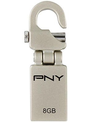 PNY mini haak attaché 8gb usb flash drive metalen stijl