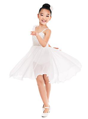 ריקודים סלוניים שמלות בגדי ריקוד נשים / בגדי ריקוד ילדים אימון ספנדקס / נצנצים קפלים / נצנצים בלי שרוולים טבעי
