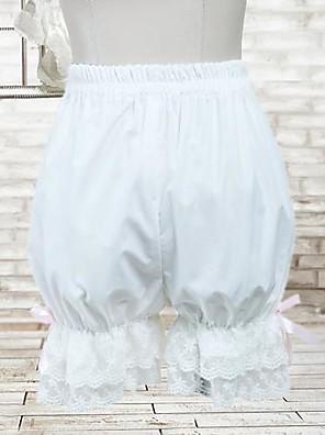 Kalhoty Klasická a tradiční lolita Lolita Cosplay Lolita šaty Bílá Jednobarevné Lolita Lolita Kalhoty Pro Dámské Bavlna