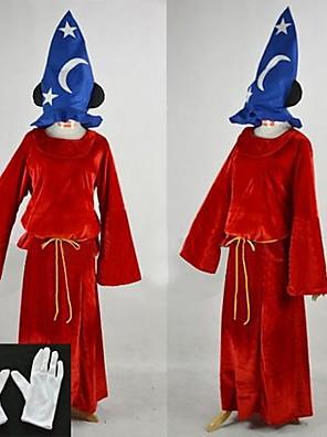 תחפושות קוספליי / תחפושת למסיבה קוספליי פסטיבל/חג תחפושות ליל כל הקדושים אדום טלאים כפפות / גלימה / כובע האלווין (ליל כל הקדושים) יוניסקס