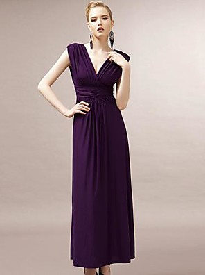 JOANNE KITTEN Women's Party/Cocktail Sexy / Vintage Dress Midi Sleeveless Purple Polyester / Spandex All Seasons