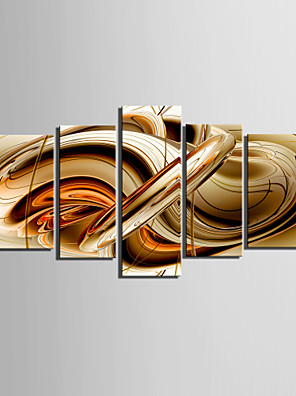 Stretched Canvas Print Art Abstract Syrup Set of 5