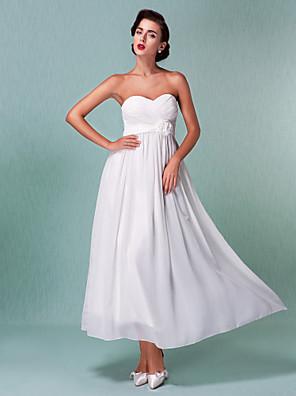 Lanting Bride® Tubinho Pequeno / Tamanhos Grandes Vestido de Noiva - Clássico e atemporal / Chique e Moderno Até o Tornozelo Coração