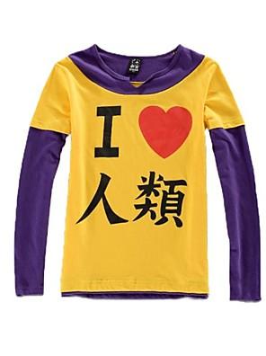 Inspirovaný No Game No Life Cosplay Anime Cosplay kostýmy cosplay Mikiny Tisk Żółty / Fialová Dlouhé rukávy Trička