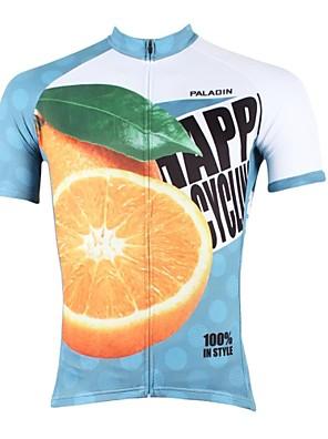 PALADIN® חולצת ג'רסי לרכיבה לגברים שרוול קצר אופניים נושם / ייבוש מהיר / עמיד אולטרה סגול ג'רזי / צמרות 100% פוליאסטר טבע ונופיםאביב /
