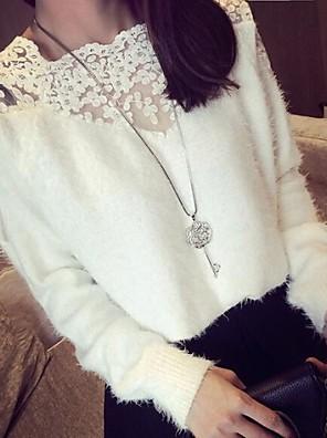 סוודרי נשים סוודרים תפירת התחרה אנגורה האופנה (צבעים נוספים)