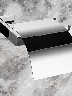 WC-papír tartó, modern rozsdamentes acél falra szerelhető, fürdőszoba tartozék