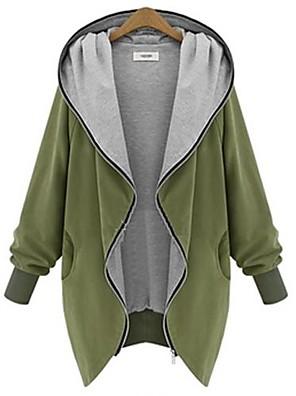 WeiMeiJia® Women's Hoodie All Matching Zipper Overcoat