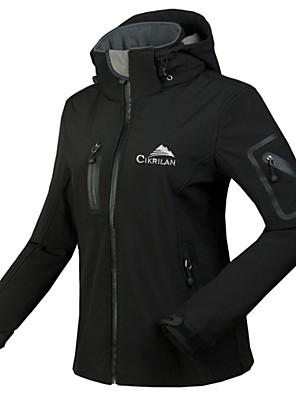 Cikrilan® ג'קט לרכיבה לנשים שרוול ארוך אופנייםעמיד למים / נושם / שמור על חום הגוף / בטנת פליז / רוכסן עמיד למים / רוכסן קדמי / חדירות