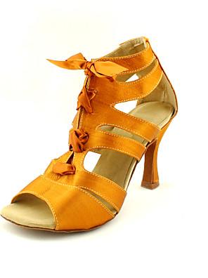 여성을위한 맞춤 새틴 라틴어 / 볼륨 패션 댄스 성능 신발 (자세한 색)
