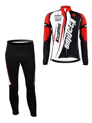 KOOPLUS® Calça com Camisa para Ciclismo Mulheres / Homens / Unissexo Manga Comprida MotoRespirável / Mantenha Quente / Zíper á