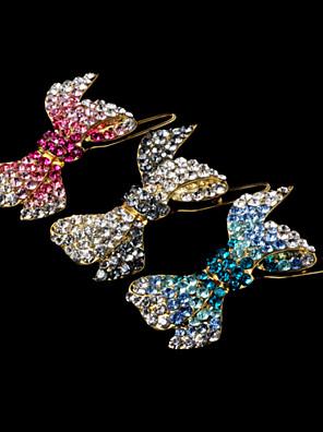 סיכת ראש סגסוגת של נשים עם יהלומים מלאכותיים