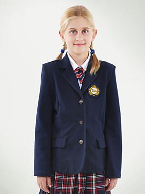 navy dois bolsos blazer uniformes escolares das meninas