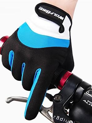 WEST אופניים® כפפות ספורט/ פעילות לגברים / כל כפפות רכיבה אביב / קיץ / סתיו / חורף כפפות אופנייםשמור על חום הגוף / נגד החלקה / נושם /