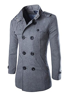 Men's Lapel Fashion Casual Wool Tweed Coat