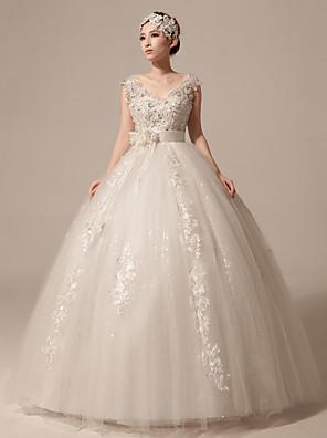 Plesové šaty Svatební šaty Na zem Do V Tyl s