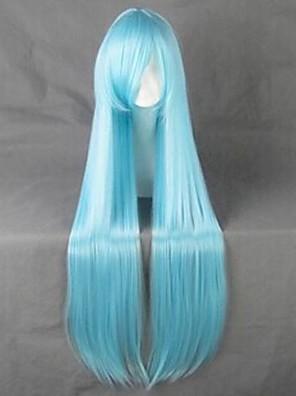 פאות קוספליי Sword Art Online Asuna Yuuki כחול ארוך אנימה פאות קוספליי 100 CM סיבים עמידים לחום נקבה