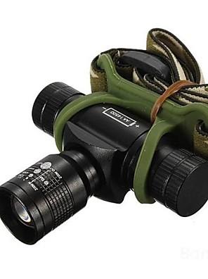 תאורה פנסי ראש LED 350/150/100 Lumens 3 מצב Cree XR-E Q5 14500 / AA מיקוד מתכוונן / עמיד למים / ניתן לטעינה מחדש / עמיד לחבטות