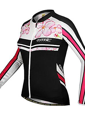 SANTIC® חולצת ג'רסי לרכיבה לנשים שרוול ארוך אופנייםנושם / שמור על חום הגוף / עמיד / עיצוב אנטומי / עמיד אולטרה סגול / לביש / חדירות גבוהה