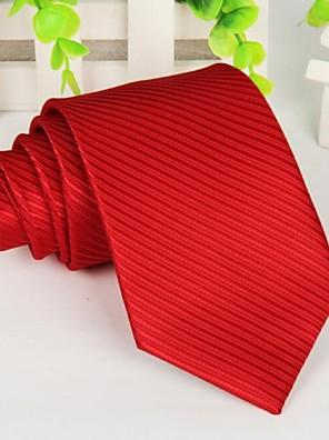 rød polyester lange stribe mænds slips 145 * 8 cm