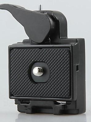 2in1 sæde&hurtig plade release for dslr kamera stativ monopod hoved lommelygte mount 1/4 3/8 skrue