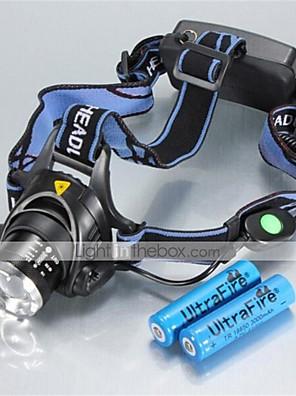 Osvětlení Čelovky LED 1200 Lumenů 3 Režim Cree XM-L T6 18650 Voděodolný / DobíjecíKempování a turistika / Každodenní použití / Cyklistika