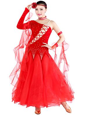 Standardní tance Úbory Dámské Tyl / Samet S:128cm,M:128cm,L:130cm,XL:133cm,XXL:135cm