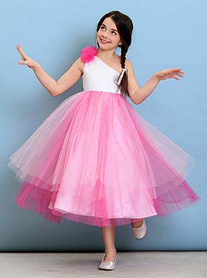 Lanting Bride® Longuette Tule Vestido de Daminha de Honra De Baile Mula Manca com Flor(es)