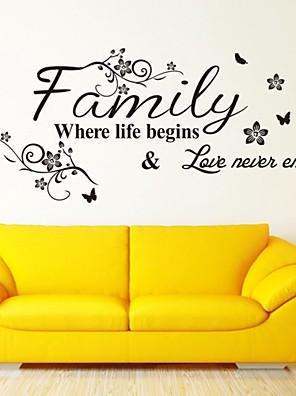 מדבקות קיר מדבקות קיר, מילות באנגלית משפחה&מצטט קיר PVC מדבקות