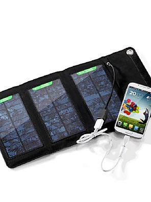 5W 5V 1a külső usb napenergia panel összecsukható töltő töltő táska iphone6 / 6plus / Samsung / más mobil eszközök